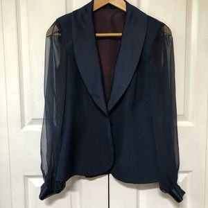 • Vintage • Fitted Blazer with Transparent Sleeves